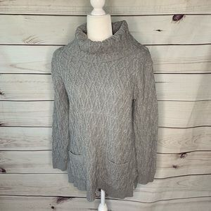 Jeanne Pierre • cotton cowl neck sweater XL